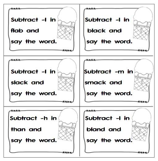 "LANGUAGE ARTS – ""Phoneme Subtraction"" – The Best of Teacher ..."