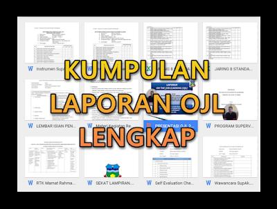 Contoh Laporan OJL Calon Kepala Sekolah SD|SMP|SMA 2016