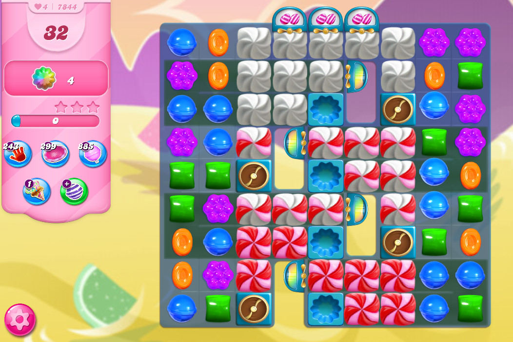 Candy Crush Saga level 7844