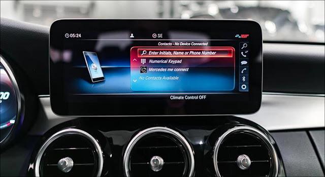 Thiết kế Màn hình trung tâm Mercedes C300 AMG 2019