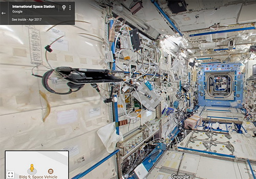Tinuku.com Explore International Space Station with Google Street View