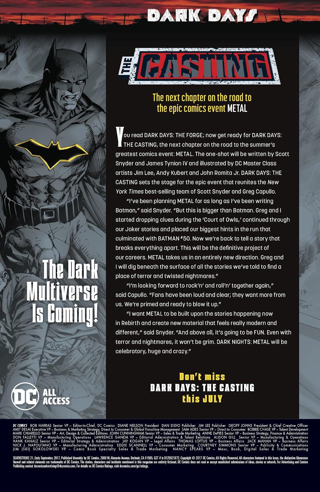 Read online Deathstroke (2016) comic -  Issue #21 - 24