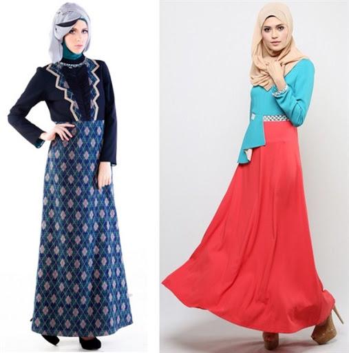 dress muslimah cantik terbaru 2017/2018
