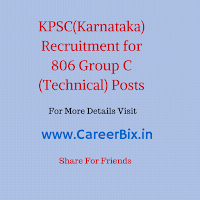 KPSC Recruitment for 806 Group C (Technical) Posts