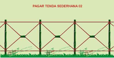 Model pagar tenda sederhana