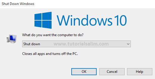 Cara mematikan Laptop Dengan Benar