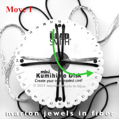 8-Stand Flat Kumihimo Braid Free Tutorial