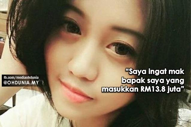 """""""Saya Ingat Mak Bapak Saya Yang Masukkan RM13.8 Juta"""""""
