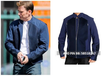 Gambar Jaket Kulit Winter Soldier Captain America Blue