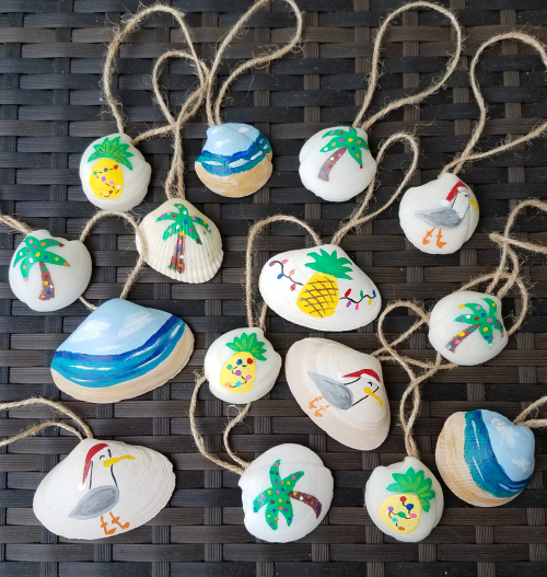 Painted Seashell Ornaments