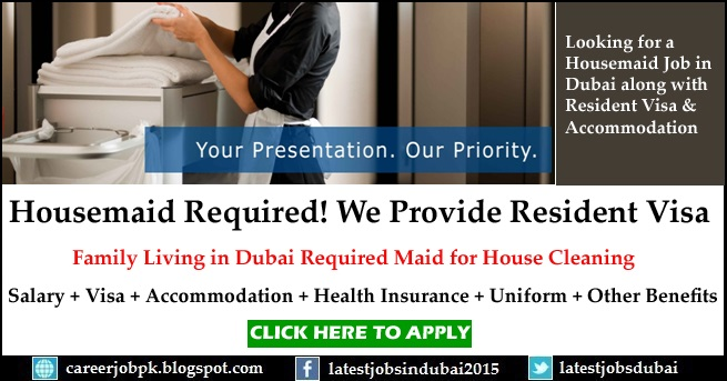 Housemaid jobs in Dubai for House Cleaning