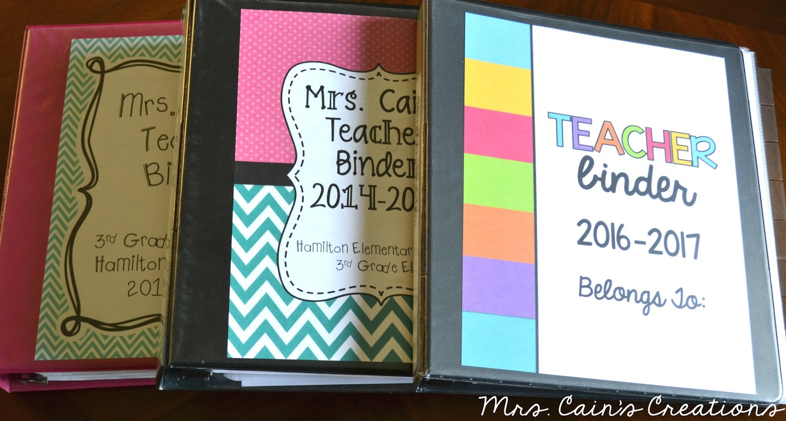 Mrs  Cain's Creations: Creating a Teacher Binder That Works