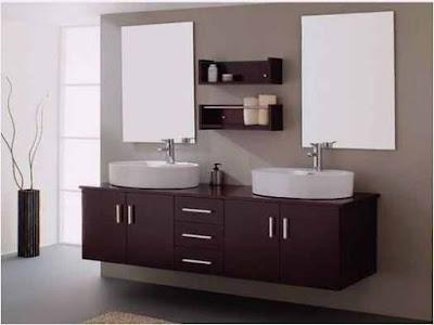 Bathroom Two Sink Cabinets Elegant