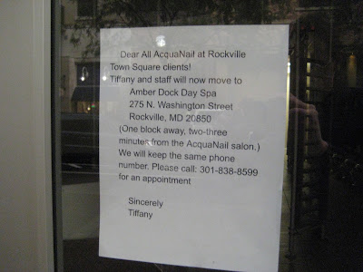 Rockville nights acqua nails staff leaving for amber door for Acqua nail salon