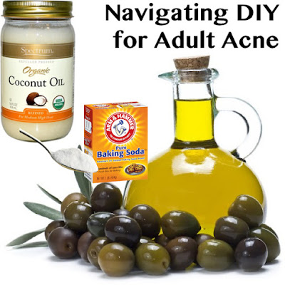 Coconut and olive oils and baking soda used in DIY skincare make acne worse!
