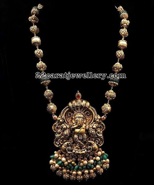 Nakshi Ganesh Pendant Beads Chain