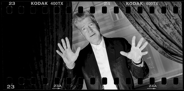 Portrait panoramique de David Lynch en 2007 pris par Xavier Lambours