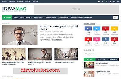 Template Terbaru 2017 Ideas Mag Blogger Seo Responsive Download Gratis