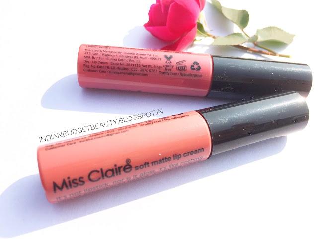 Miss Claire Soft Matte Lip Cream 31 & 47 REVIEW