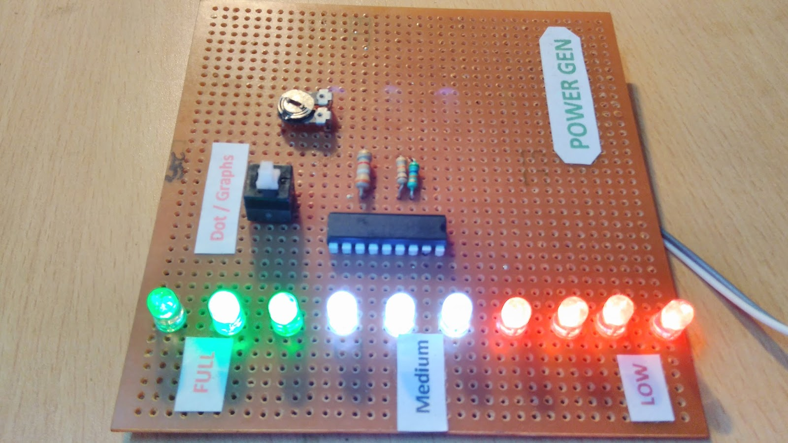 12v Battery Indicator Level Voltage And Checking Using Lm3915 Ic