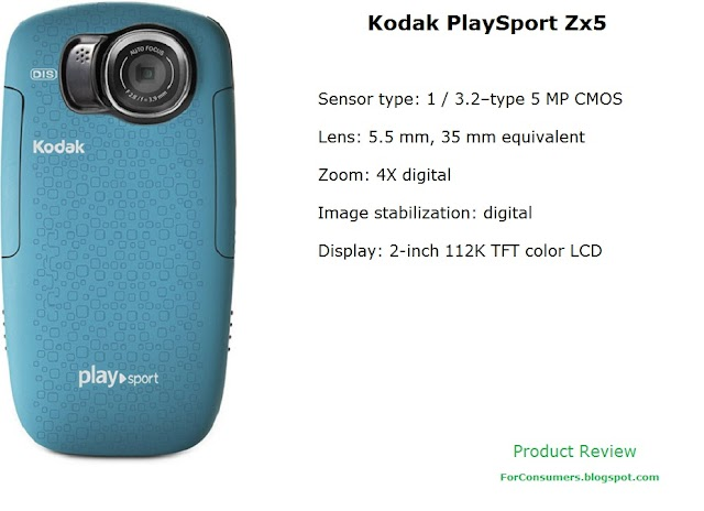 Kodak PlaySport Zx5 camcorder specs and review