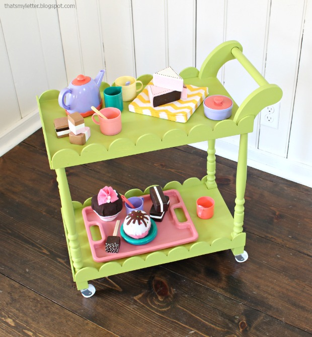 diy kids play tea cart