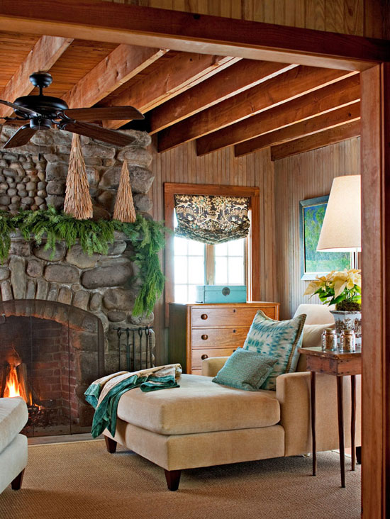 image result for beautiful room fireplace blue decorated for Christmas elegant sophisticated interior design
