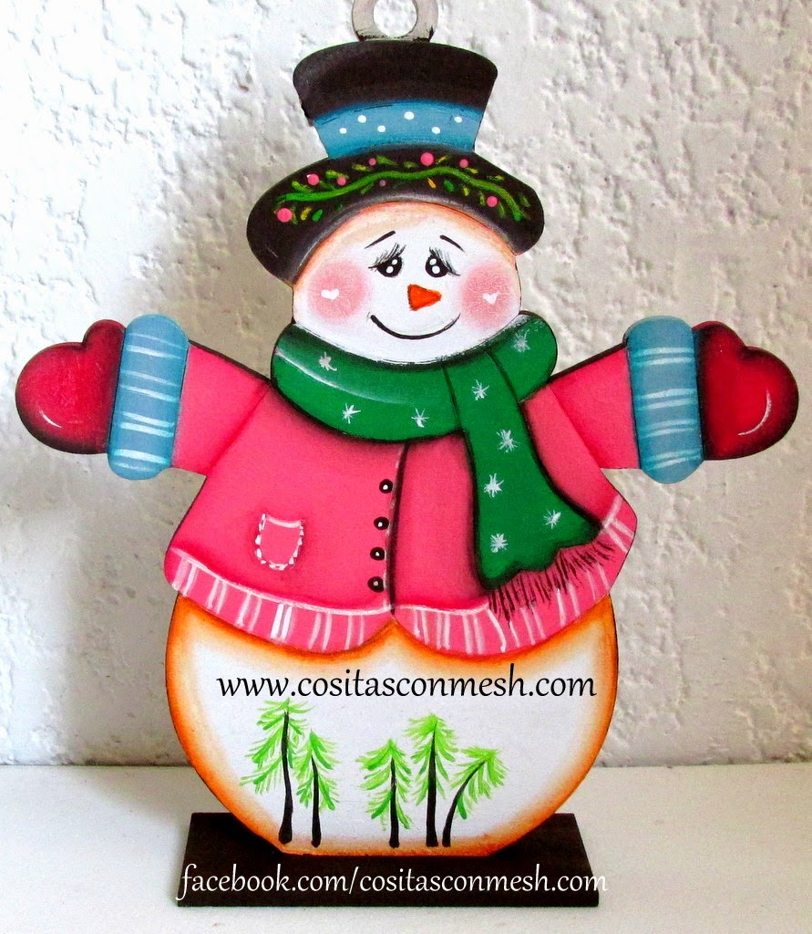 cómo-pintar-adorno-navideño-madera