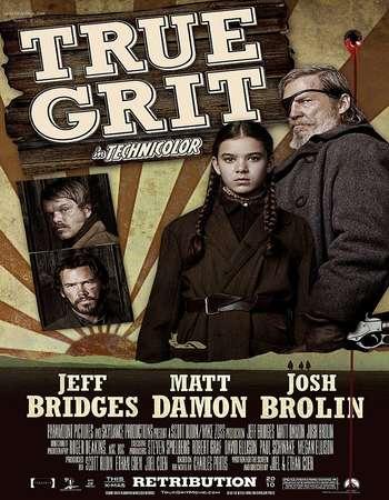 Poster Of True Grit 2010 Dual Audio 300MB    Free Download Watch Online Worldfree4u