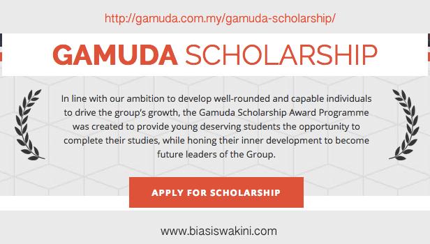 Gamuda Scholarship 2017 - Biasiswa Gamuda