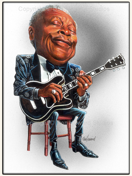 Don Howard Studios Caricature of BB King