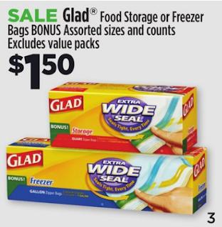 Dollar General Deals Glad Freezer Bags 3 Cents Per Box