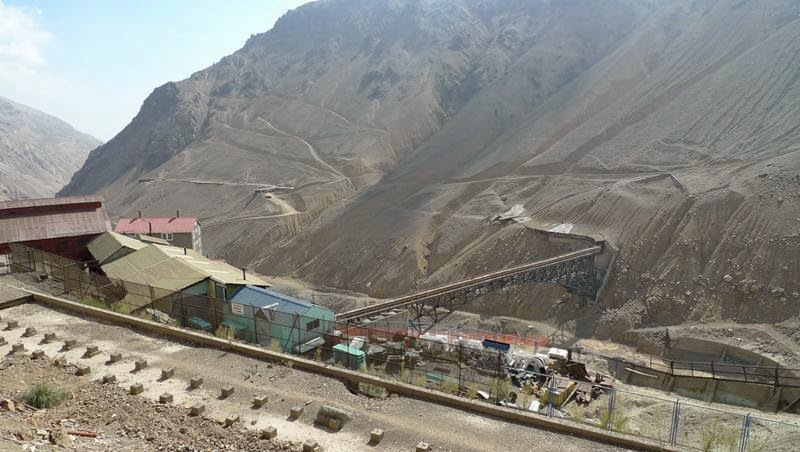 The mining town of Sewell is located on the slopes of the Andes on Cerro Negro
