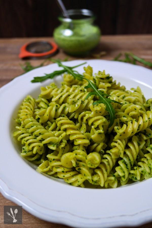 Rucola-Ziegenkäse-Pesto