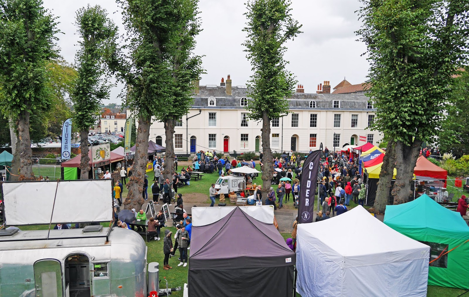 The entrance to the Canterbury Food Festival from above