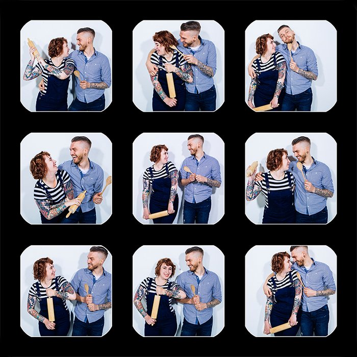 Couple Photo Shoot Collage in Winchester with Studio1314
