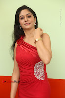 Actress Zahida Sam Latest Stills in Red Long Dress at Badragiri Movie Opening .COM 0055.JPG