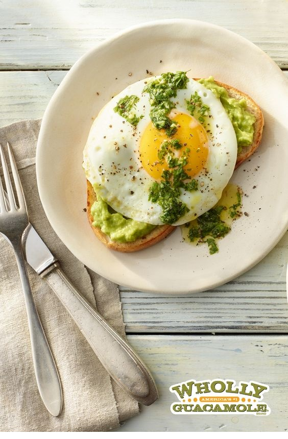 Herb Avocado Toast With Fried Egg