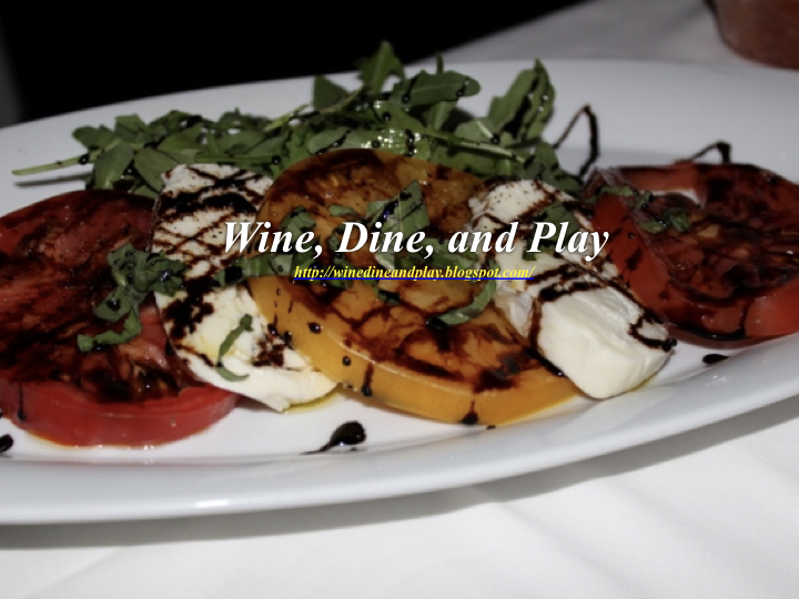 Tomato Caprese salad at the Council Oak Steakhouse