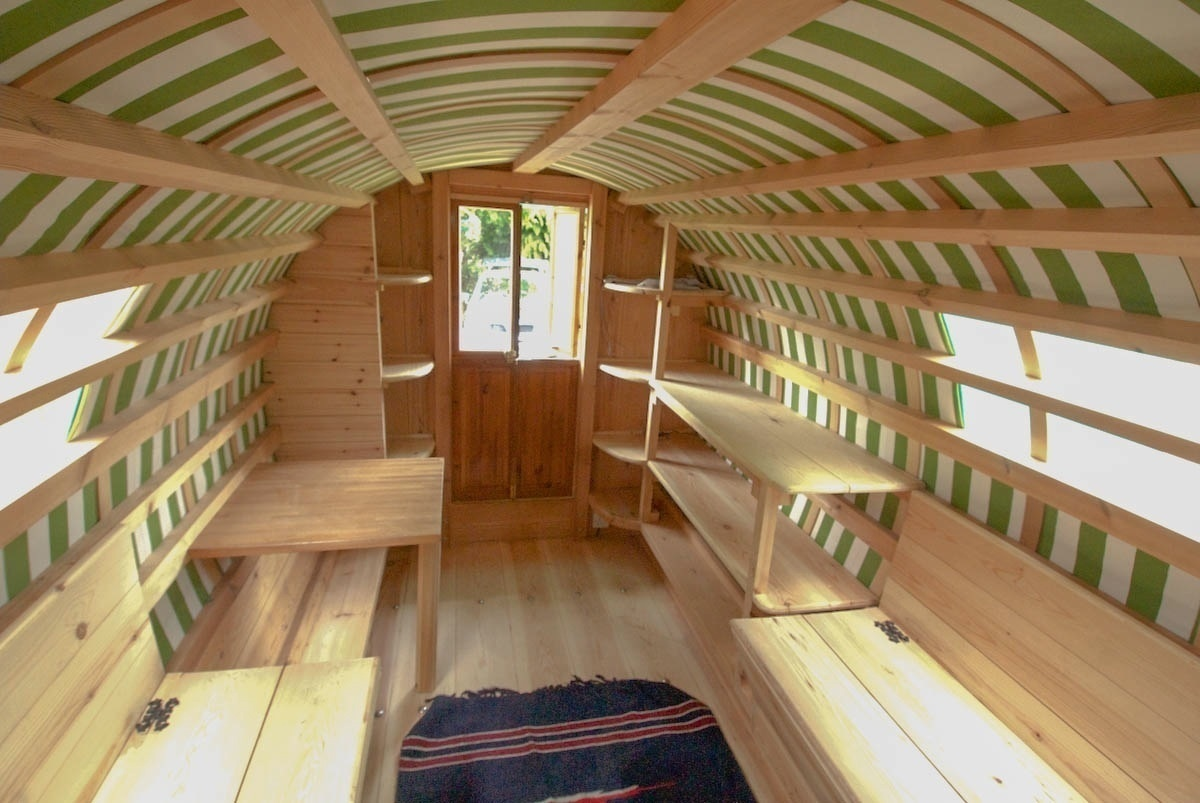 ...so you can imagine the care and detail that goes into them!  - These Gypsy Caravans Are All Your Hippy-Dreams Come True, Especially The Inside.