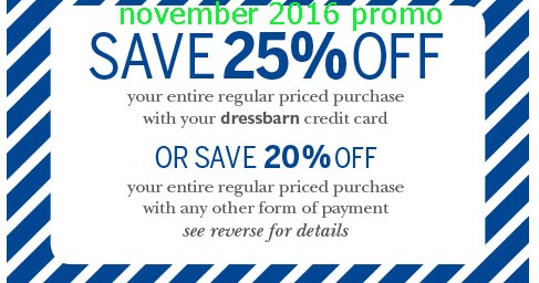 image regarding Dress Barn Printable Coupon referred to as Gown barn discount coupons printable november 2018 / Kelly moore