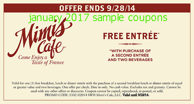 Mimi's cafe coupons 2019