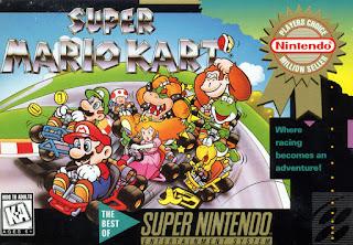 Portada del cartucho de Super Mario Kart para la Super Nintendo, 1992