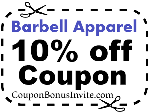 Barbell Apparel Coupon Code, Barbell Apparel Discount Code, Barbell Apparel Promo July, Aug, Sep, Oct, Nov, Dec 2017-2018
