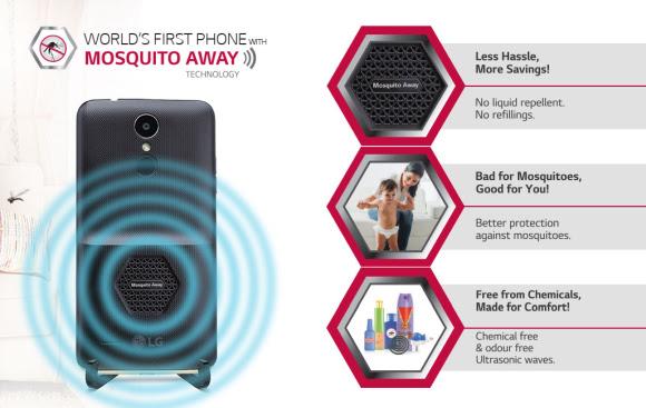 LG K7i menjadi Ponsel Terapkan Fitur Pengusir nyamuk Pertama Didunia