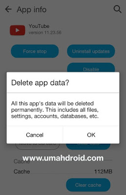 Clear data aplikasi android
