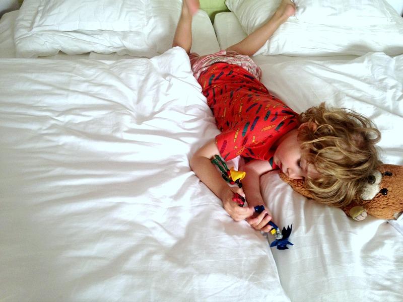 F relaxing at Hotel Palau sa font