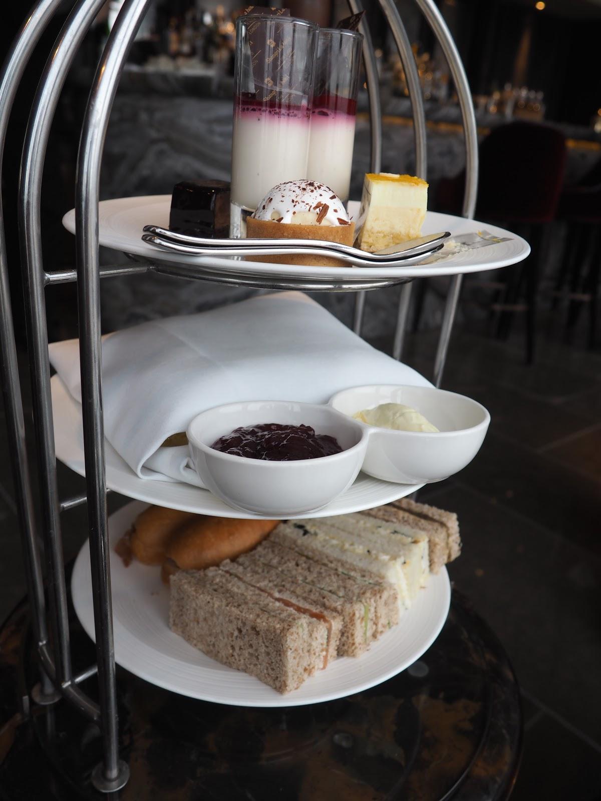 Food for Afternoon Tea at GONG Bar at the Shangri La at The Shard