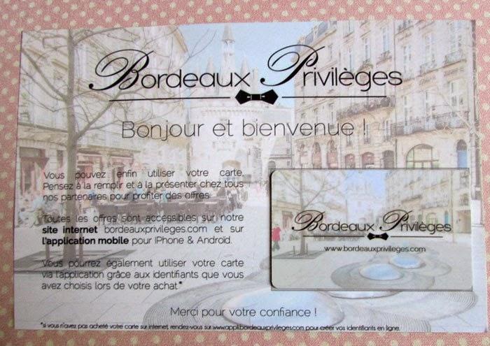 Bordeaux privilèges carton