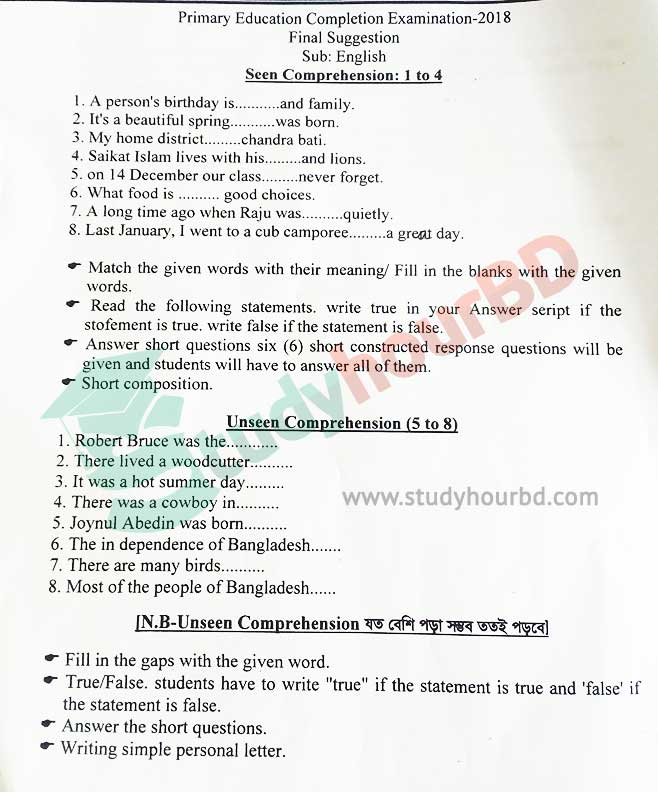PSC English Suggestion 2019 part1